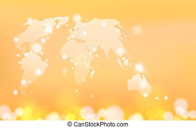 Global world map illustration.