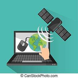 globala kommunikationer, design