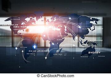 globale, aviazione, fondo