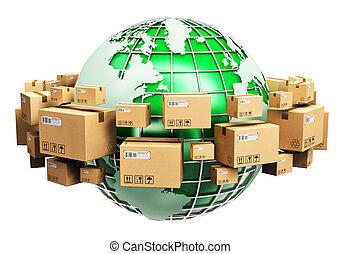 globale, begreb, økologi, forsendelse