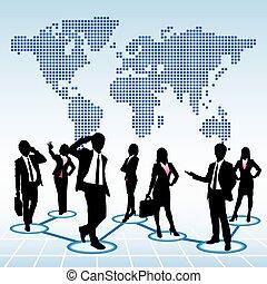 globale, begreb, menneskelige ressourcer