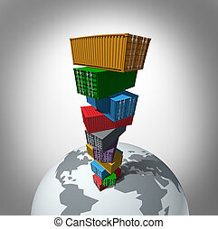 globale, carico, trasporto