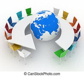globale, concetto, diplomazia