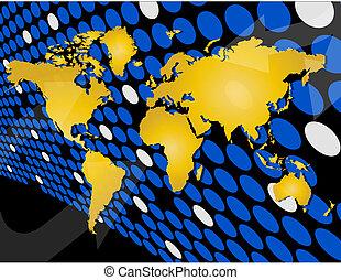 globale, concetto, fondo