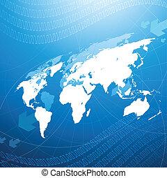 globale, concetto, rete