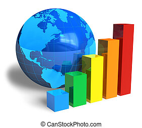 globale, concetto, successo