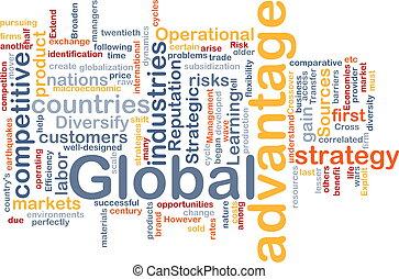 globale, concetto, vantaggio, fondo