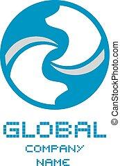 globale, ditta, simbolo