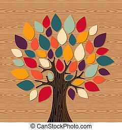 globale, diversità, albero