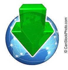 globale, downloads, digitale