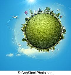 globale, eco, trasporto, concetto, per, tuo, disegno