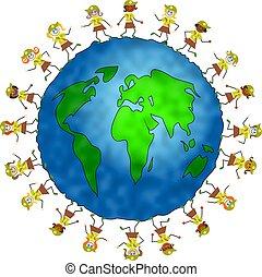 globale, folletto buono, bambini