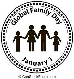 globale, giorno, famiglia