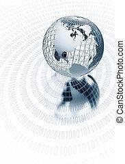 globale, informazioni, concetto