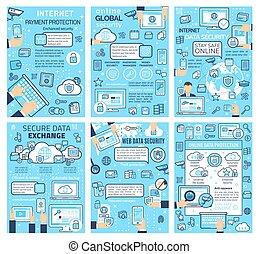 globale, internet, protezione, linea, sicurezza, dati