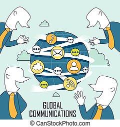 globale mededeling, concept