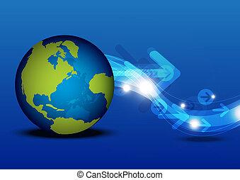globale mededeling, concept, technologie