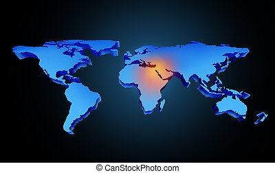 globale, medio oriente, crisi