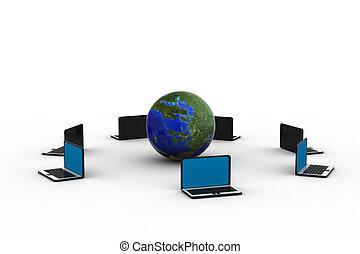 globale, rete computer