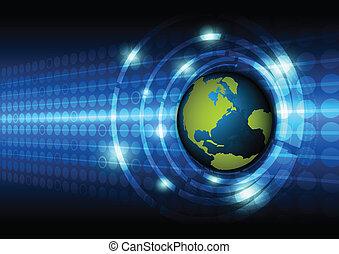 globale, tecnologia, concetto, fondo