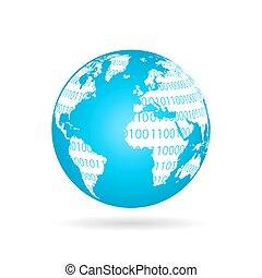 globale, tecnologia, concetto