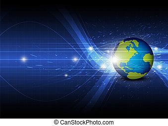 globale, tecnologia, fondo