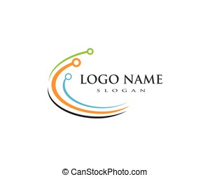 globale, tecnologia, logotipo