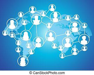 globale, tecnologia, rete, sociale