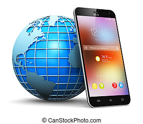 globale, trådløs kommunikation, begreb