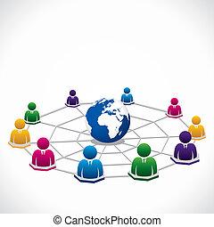 globale verbinding, wereld, ongeveer