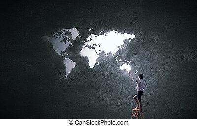 globale zaak, wisselwerking