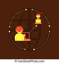globalement, dsign, relation, social