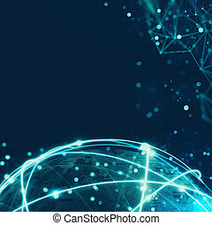 globaler anschluß, begriff, vernetzung, internet