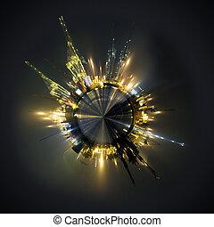 globales geschäft, kugelförmig