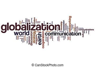 globalisatie, woord, wolk