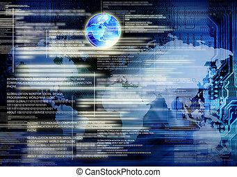 globalisierung, technologien, internet