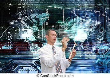 globalização, computadores
