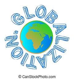 globalização, globo