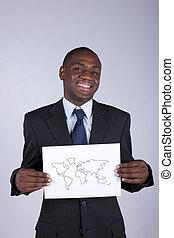 globalização, negócio, africano