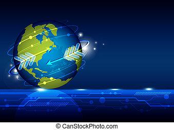 globalización, tecnología, red