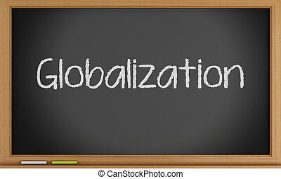 globalizartion, 書かれた, blackboard.