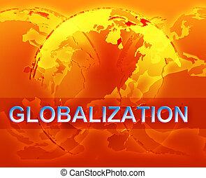 globalization, イラスト