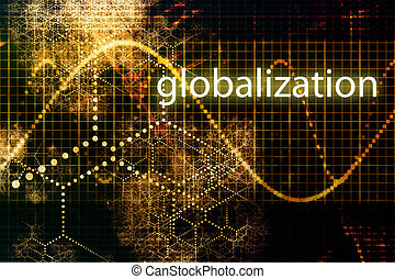 Globalization Abstract Background Wallpaper in Orange and...