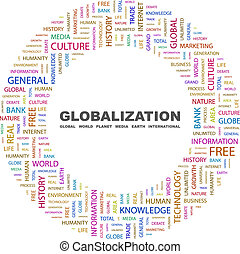 GLOBALIZATION. Background concept wordcloud illustration. ...