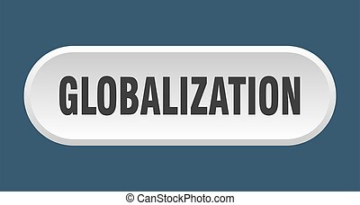 globalization button. rounded sign on white background - ...