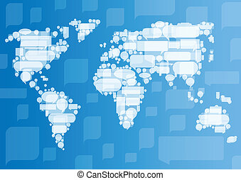 Globalization concept of business and communication vector ...