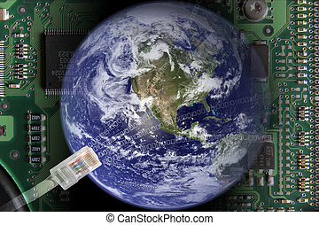 Globalization - Earth in electronical world