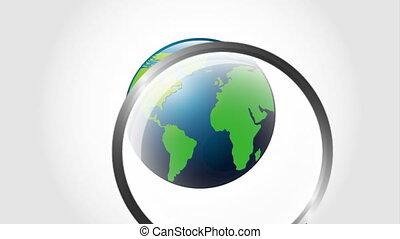globalization icon design, Video Animation HD1080