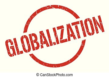 globalization stamp - globalization red round stamp