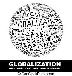 GLOBALIZATION. Word cloud concept illustration. Wordcloud ...